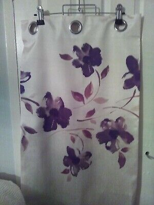£5.95 • Buy Cream With Floral Pattern Lined Ring Top Curtains By Studio W=44  X L = 54 .