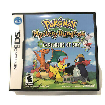 $120 • Buy Nintendo Ds Pokemon Mystery Dungeon Explorers Of Sky Case And Game!