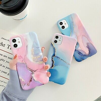 AU8.95 • Buy Marble Soft TPU Matte Mobile Phone Case Cover For IPhone 11 12 Xs Pro Max  7/8