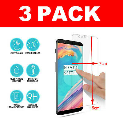 AU7.38 • Buy For OnePlus 5T Tempered Glass Screen Protector - CRYSTAL CLEAR
