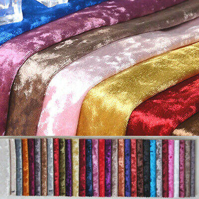 £3.99 • Buy Crushed Velvet Upholstery Fabric Stretch Material Craft Cushion Throw Curtain