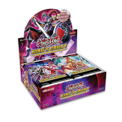£58 • Buy YuGiOh!  YGO King's Court Sealed Booster Box 24 Packs - In Hand