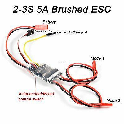 £19.01 • Buy Brushed Motor Spare Parts ESC Dual Way Speed Control RC Model Boat Tank 5A 2S-3S