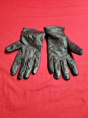 $25 • Buy US Army Military Black Leather Gloves Unisex, W/ Polyester Wool Lining, Size 9
