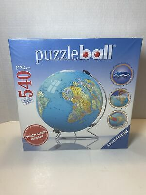 $28.99 • Buy Ravensburger 3D Earth Puzzle Ball With Display Stand - 540 Pieces New - Sealed
