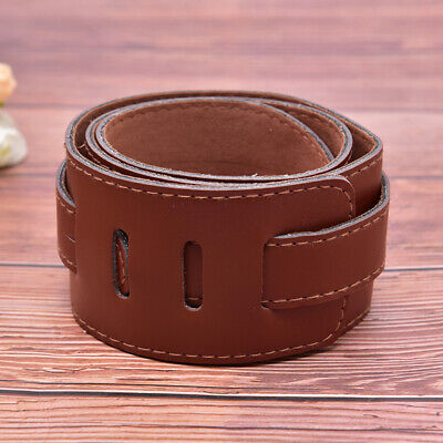 AU15.89 • Buy Adjustable Brown Soft Leather Thick Guitar Strap Belt For Electric Acoustic
