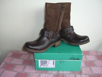 £54.95 • Buy Clarks Leather Suede Boots Uk 4 Majorca Isle New With Box Euro 37 Brown