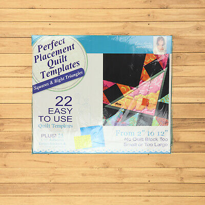 $35 • Buy DIME Machine Embroidery Perfect Placement Quilt Templates 22 Squares & Triangles