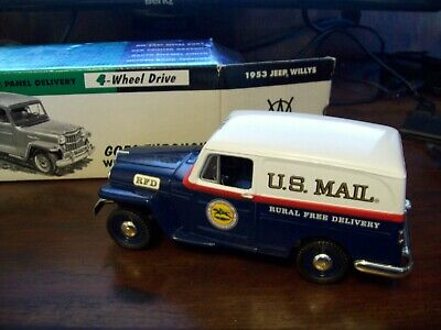$69.99 • Buy Liberty Classics 1953 Willys Jeep Usps Mail Truck Bank, Vgc, Rare!