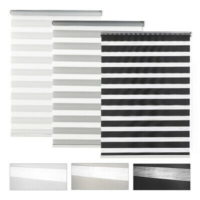 £13.59 • Buy Day&Night Zebra/Vision Window Roller Blinds Home Office Curtains Blind 150cm