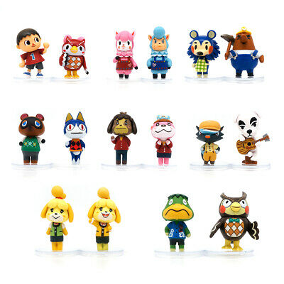 £20.99 • Buy 16pcs/set Animal Crossing Figure Forest Friends Club 2'' PVC Toy Kid Gift Topper