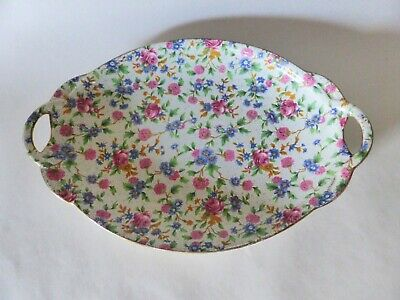 $ CDN83.33 • Buy Royal Winton Grimwades Old Cottage Chintz Platter, 1930s Double Handled Plate