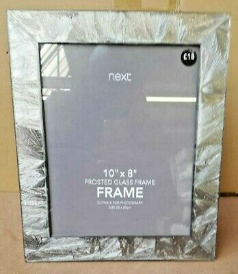£13 • Buy NEXT Frosted Glass Frame - Silver (10  X 8 )