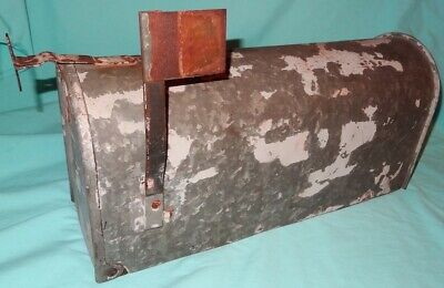 $39.99 • Buy Vintage Galvanized Old Steel Rustic Rusty Rural Farm Country Mail Postal Box