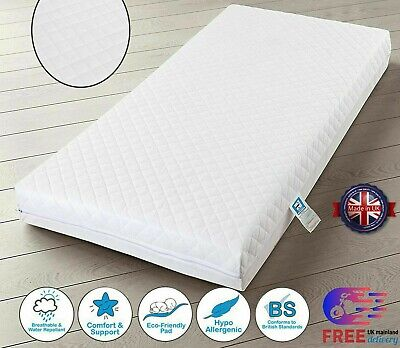 £39.99 • Buy Baby Toddler Cot Bed Breathable QUILTED & WATERPROOF Foam Mattress All Sizes