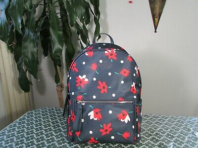 $ CDN174.98 • Buy NWT Kate Spade Nylon Chelsea Whimsy Floral Large Backpack Multicolor