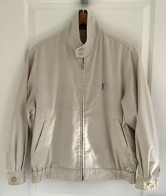 AU99 • Buy Yves Saint Laurent Relaxed Fit Bomber Jacket In Beige
