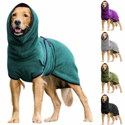 £11.69 • Buy New Pet Clothes Dog Towelling Drying Robe Soft Sleepwear Coat Puppy Warm Apparel