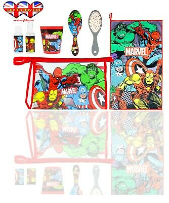 AU20.74 • Buy Official Marvel Avenger Filled Travel Toiletry Bag;Hair Brush-Hand Towel-Cup..