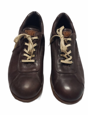 £29.08 • Buy Camper Mens Pelotas Oxford Casual Leather Lace-up Shoes Brown EU45  US12
