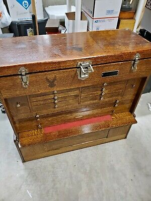 $1350 • Buy Gerstner Oak (062) Machinist Wood Tool Chest Box Set With Matching (062) Base