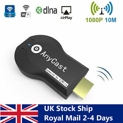 £14.99 • Buy Any Cast WiFi Dongle HDMI Wireless Display Adapter For TV Projector Airplay DLNA