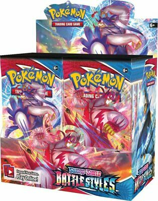 AU185 • Buy 1 X Pokemon TCG Sword And Shield Battle Styles Booster Box! Sealed! In Stock