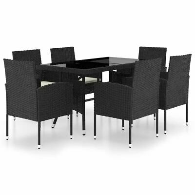 AU505.95 • Buy Modern Patio Dining Table And Chairs With Cushion Outdoor Rattan Dinner Set 7pcs