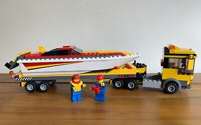 £12.99 • Buy Lego City 4643 Harbour Power Boat Transporter Retired Complete With Instructions