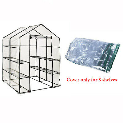 £21.99 • Buy Walk In Greenhouse PVC Plastic Cover Only For Garden Grow Green House 8 Shelves