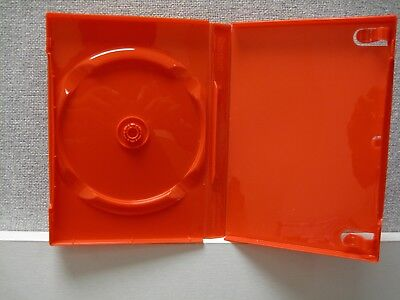 £10 • Buy 10 Red Empty Single DVD Cases With DVD Slot BluRay CD 20mm Spine
