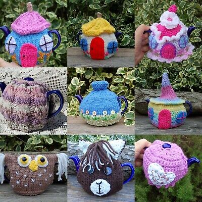 £6 • Buy Hand Knitted Tea Cosy To Fit A Small One Cup Teapot - Various Designs