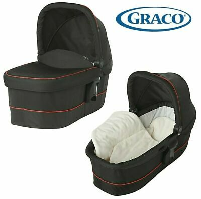 £27 • Buy NEW Graco Evo XT Baby Carrycot Black Red Piping New In Box Fits Travel System
