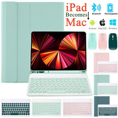 AU25.89 • Buy Smart Case With Bluetooth Keyboard MouseFor IPad 7/8th 6th&5th Gen Pro 10.5 Air4