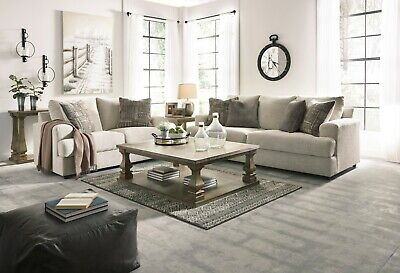 $1095 • Buy Ashley Furniture Soletren Stone Sofa And Loveseat Living Room