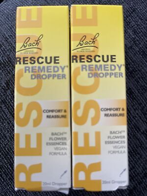 £9.99 • Buy 2 X New Bach Rescue Remedy Dropper - 20ml Comfort & Reassure : Expiry Jan 2026
