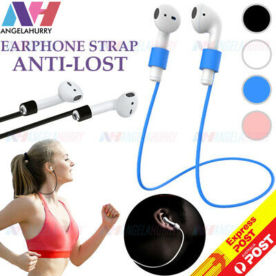AU6.45 • Buy Anti Lost Strap String Rope Soft Silicone Holder Cord Airpods Pro Earbuds NEW