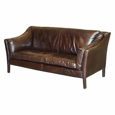 £1200 • Buy Display Condition Halo Groucho Bike Tan Brown Leather Sofa Part Of A Large Suite