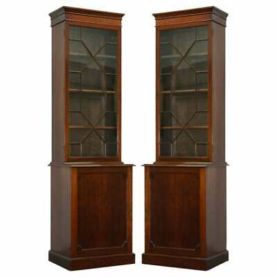 $7974.68 • Buy Pair Of Large Tall Antique Victorian Mahogany Astral Glazed Library Bookcases