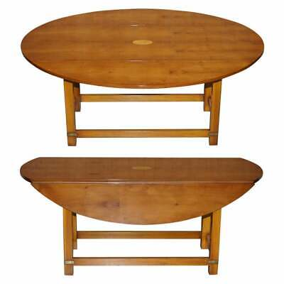 £950 • Buy Brand New Bevan Funnell Burr Yew Wood Extending Oval Campaign Coffee Table