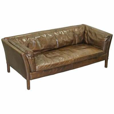 £850 • Buy Rrp £1449 Halo Groucho Conker Brown Leather Medium Two Seat Sofa Comfortable