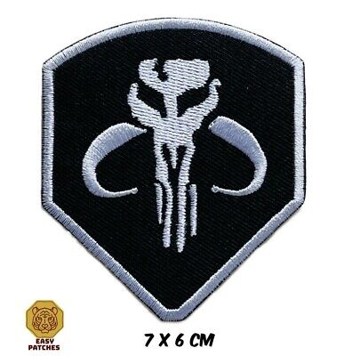 £1.99 • Buy Mandalorian Star Wars Shield Movie Embroidered Sew/Iron On Patch Badge Jeans