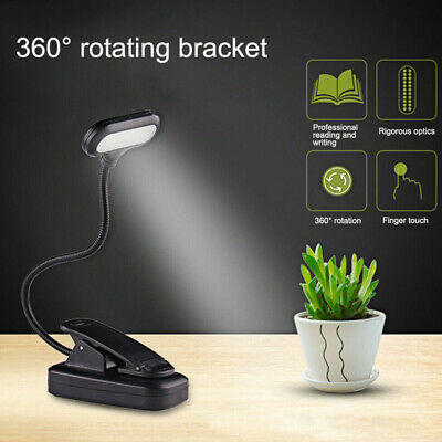 AU9.98 • Buy LED Night Reading Book Light Clip On Bed USB Rechargeable Eye Protection Lights