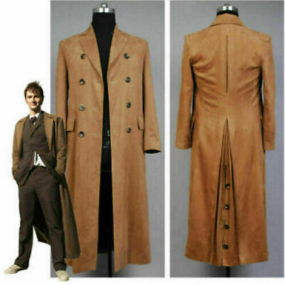 £49.90 • Buy Doctor Who Dr. Brown Cosplay Costume Outfit Long Trench Suit Coat
