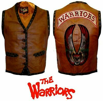 $99.99 • Buy The Warriors Movie Brown Real Leather Vest/Jacket - ALL SIZES AVAILABLE