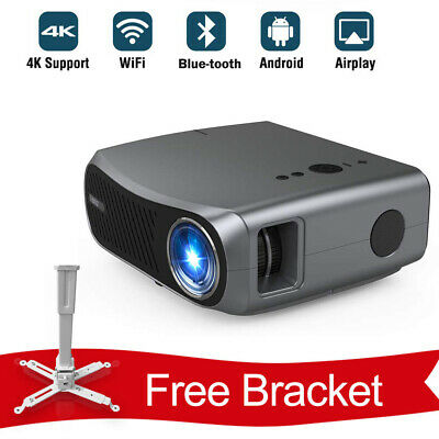 £489.99 • Buy 10000:1 Smart Home Cinema Projector Blue Tooth 5G WiFi Airplay Online Video HDMI