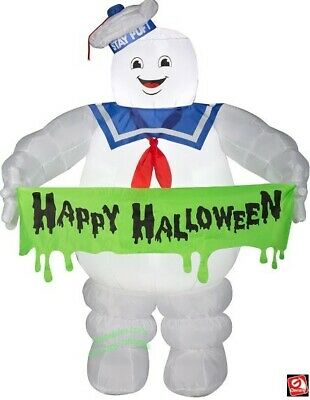 $ CDN137.92 • Buy Halloween Inflatable Airblown Ghostbusters Stay Puft Banner  5 Ft Gemmy