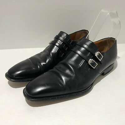 £75 • Buy Moreschi @ Russell & Bromley Monk Strap Black Leather Formal Shoes UK 7.5 EU41.5