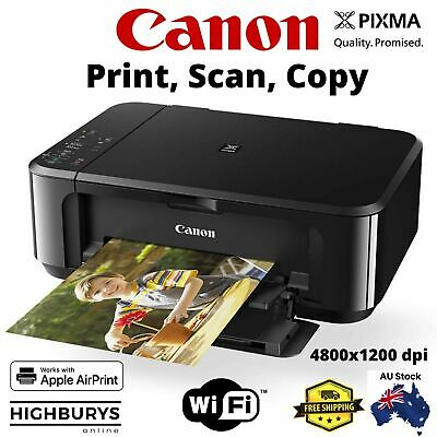 AU89.99 • Buy Canon Pixma Home MG3660 Inkjet Printer All In One Print A4 Photo Document Wi-Fi