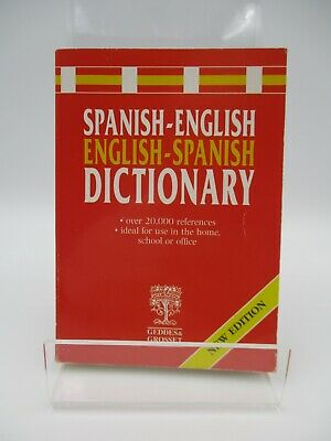 £2.25 • Buy Spanish English Spanish Dictionary New Edition 2001 Geddes And Grosset Paperback